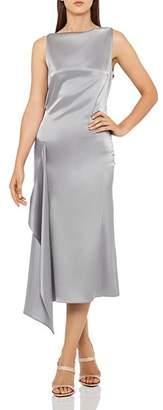 Reiss Seren Draped Satin Dress