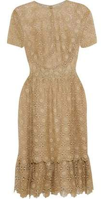 Mikael Aghal Metallic Crocheted Dress