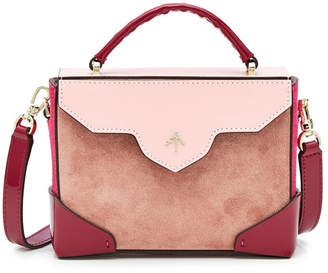 Atelier Manu Micro Bold Leather and Suede Shoulder Bag