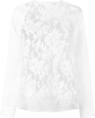 Ports 1961 blouse with lace panels