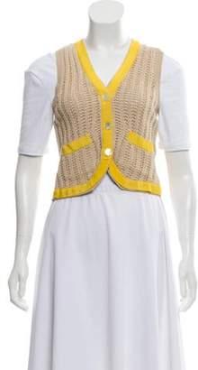 3.1 Phillip Lim Woven Knit Vest Nude Woven Knit Vest