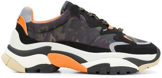Ash camouflage lace-up sneakers