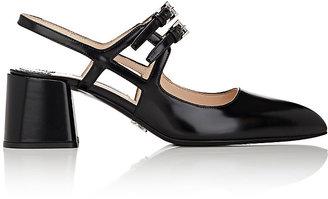 Prada Women's Leather Slingback Pumps $790 thestylecure.com
