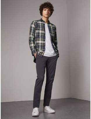 Burberry Slim Fit Stretch Cotton Chinos