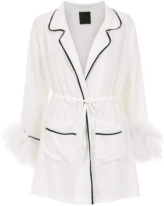 Andrea Bogosian plum coat
