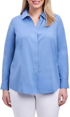 Foxcroft Ellen Solid Stretch Cotton Top