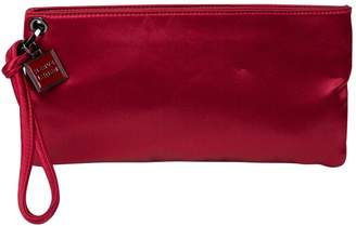 Herve Leger Red Cloth Clutch Bag