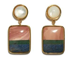 Lizzie Fortunato Fresco Square Earrings