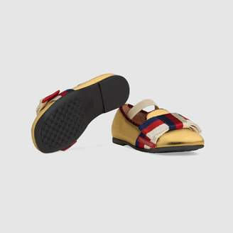 Gucci Toddler ballet flat with Sylvie bow