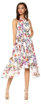 Adelyn Rae Women's Vanessa Woven Printed FIT & Flare