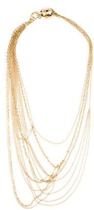 6e80614f8 Gucci 18K Marina Horsebit Multistrand Necklace