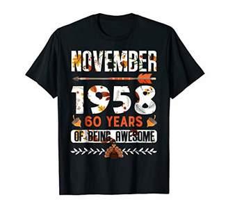 November 1958 60 Years Old Shirt Thanksgiving Decorations