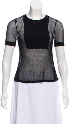 Hanley Mellon Mesh Knit Short Sleeve Top w/ Tags