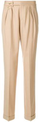 Pt01 pleat detail tailored trousers
