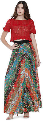 Alice + Olivia (アリス オリビア) - Alice+olivia Katz Wide Band Sunburst Pleat Maxi Skirt