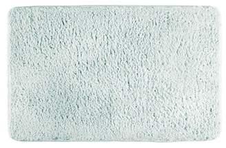 "InterDesign Sherpa Microfiber Bathroom Accent Rug - 34"" x 21"", Light Aqua"