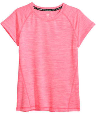 H&M Short-sleeved Sports Top - Pink
