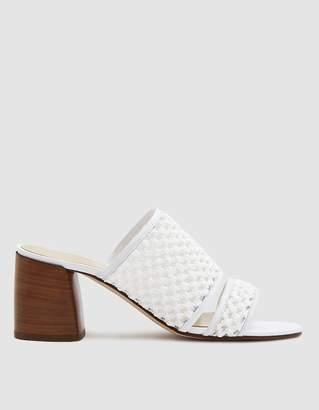 Creatures of Comfort Malu Raffia Crochet Shoe in White