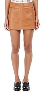 Loewe Women's Lambskin Miniskirt - Beige, Tan