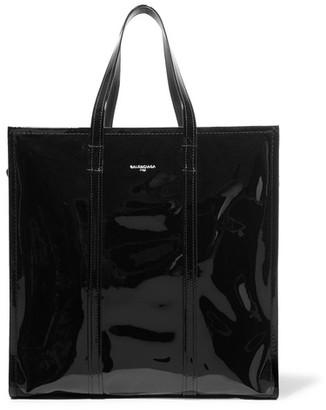 Balenciaga - Bazar Large Patent-leather Tote - Black $1,895 thestylecure.com