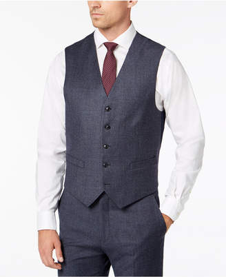 Tommy Hilfiger Men's Modern-Fit Th Flex Stretch Light Blue Plaid Suit Vest