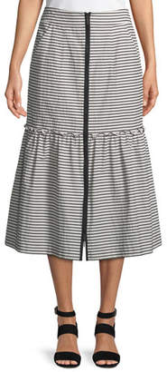 Nanette Lepore The Cove Striped A-Line Skirt