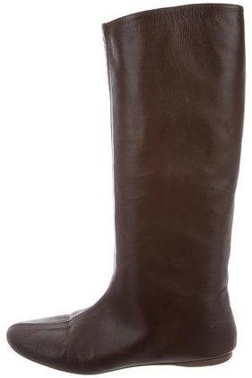 Saint LaurentYves Saint Laurent Round-Toe Knee-High Boots