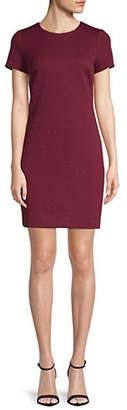 Calvin Klein Embossed Ponte T-Shirt Dress