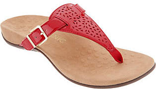 Vionic Perforated T-Strap Sandals- Tropez