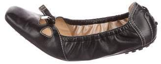 Tod's Leather Cutout Flats