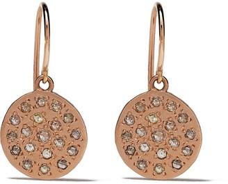 Brooke Gregson 14kt rose gold mini Mars diamond earrings