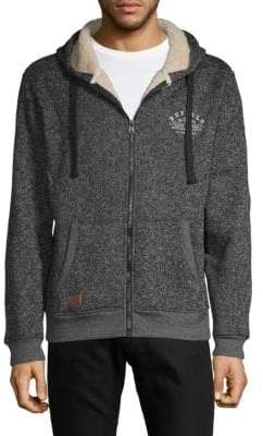 Buffalo David Bitton Logo Hooded Sweater