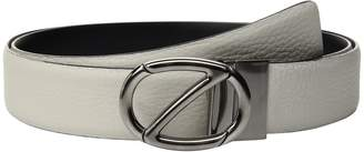 Ermenegildo Zegna Adjustable/Reversible Grained Belt BKIBM2 Men's Belts