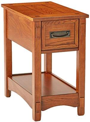 Signature Design by Ashley Ashley Furniture Signature Design - Breegin Chairside End Table - 1 Drawer - Contemporary - Brown