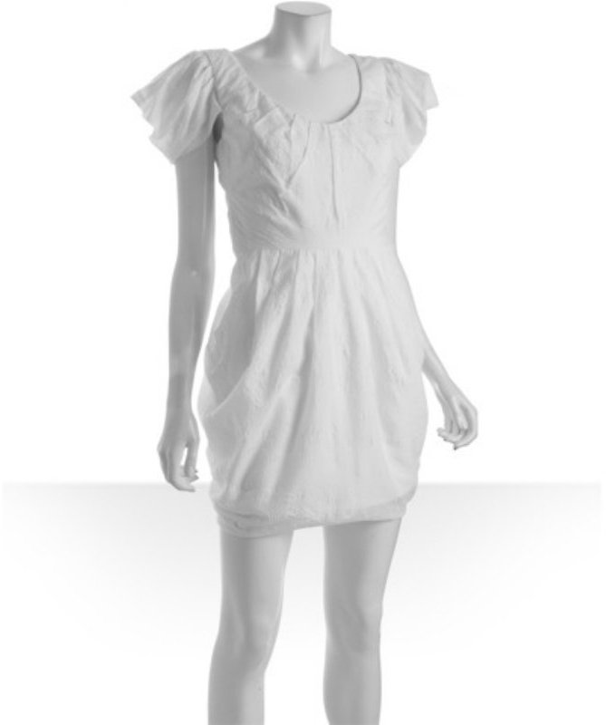 Mark & James by Badgley Mischka white cotton bubble dress