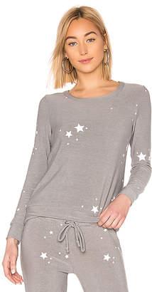 Chaser White Stars Knit
