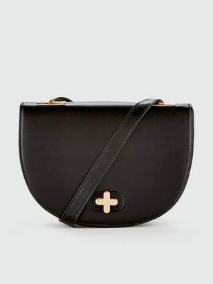 Very Priya Saddle Bag - Black