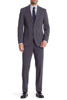 Nautica Gray Glenn Plaid Two Button Notch Lapel Suit