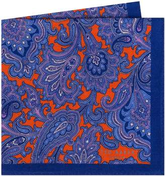 Ted Baker Paisley Wool Pocket Square
