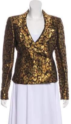 Valentino Leopard Brocade Blazer