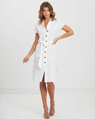 Atmos & Here Button Front Midi Dress