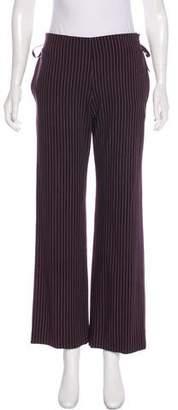 Issey Miyake Pinstripe Mid-Rise Pants