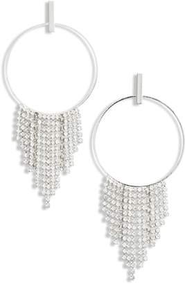 CRISTABELLE Circle Fringe Shoulder Duster Earrings