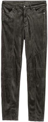 H&M Faux Suede Pants - Gray