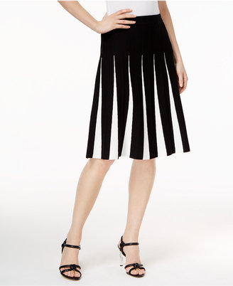 Calvin Klein Pleated A-Line Skirt $109.50 thestylecure.com
