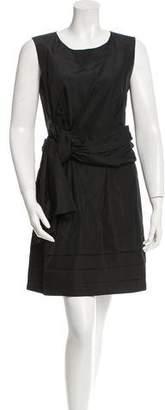 Chloé Sash-Accented Silk Dress