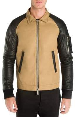 DSQUARED2 Two-Tone Cotton Boxy Bomber Jacket