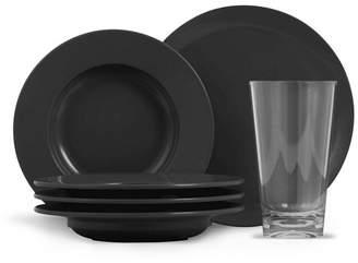 Thermoserv 12-Piece Melamine Dinnerware Set, Bistro