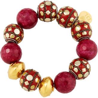 Devon Leigh Mixed Red Bead Bracelet