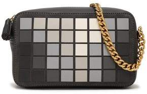 Anya Hindmarch Giant Pixel Appliquéd Suede And Leather Shoulder Bag
